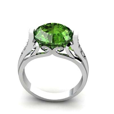 Genuine 5.34 ctw Tourmaline Ring 18k W/Y Gold