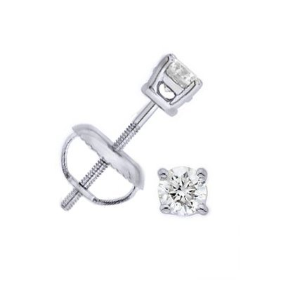 0.25 ctw Round cut Diamond Stud Earrings G-H, SI-2