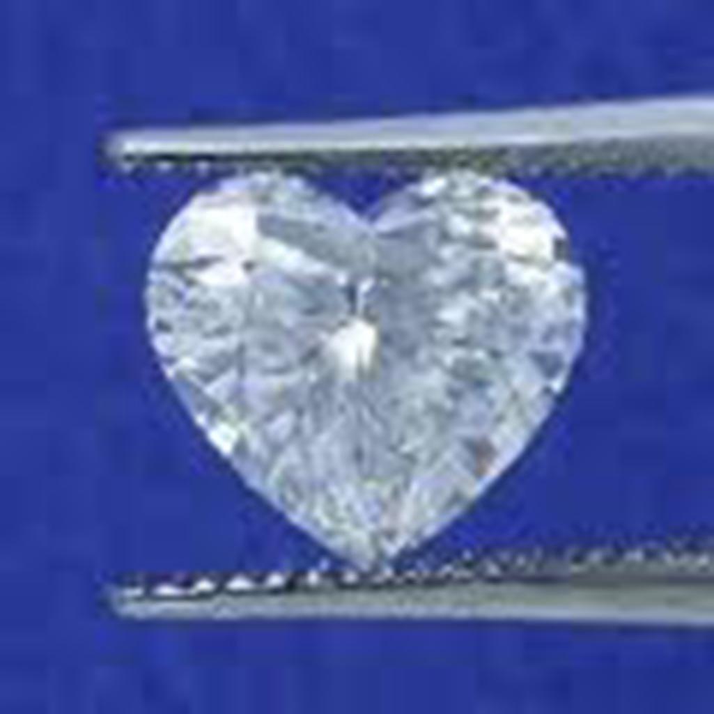 EGL CERT 0.7 CTW HEART DIAMOND F/SI2