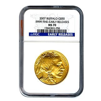 Certified Uncirculated Gold Buffalo MS70 Early Release