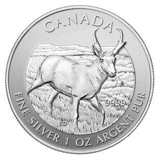 Canadian Silver 1 oz Antelope