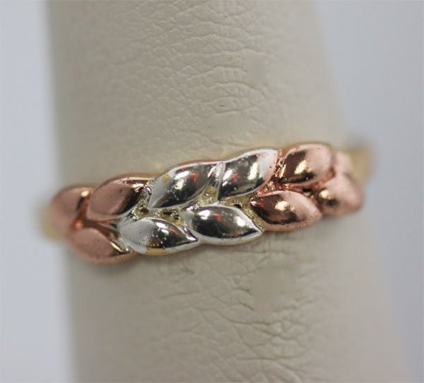 14K GOLD PLATED AND BI-COLOR RING
