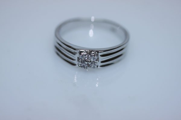 16.7 CTW CZ RING .925 STERLING SILVER