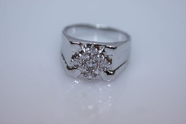 24.3 CTW CZ RING .925 STERLING SILVER
