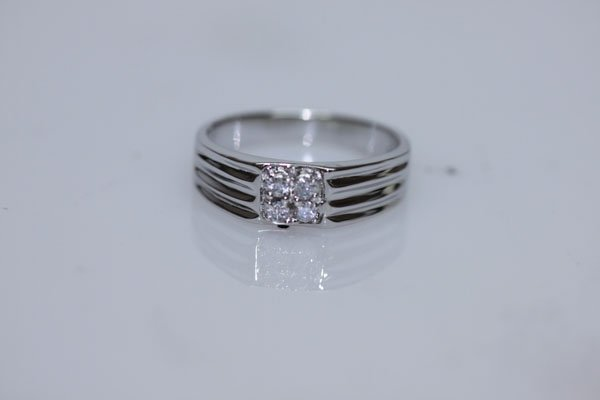 15.71 CTW  CZ RING .925 STERLING SILVER