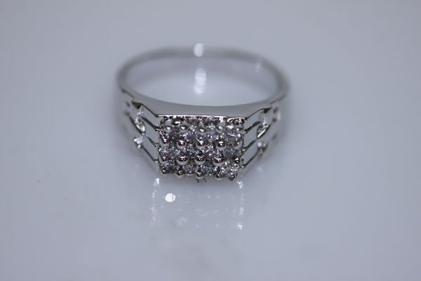 23.9 CTW CZ RING .925 STERLING SILVER
