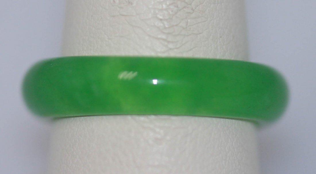 GREEN SYNTETIC JADE RING