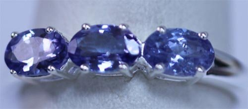 10.60 CTW TANZANITE RING .925 STERLING SILVER