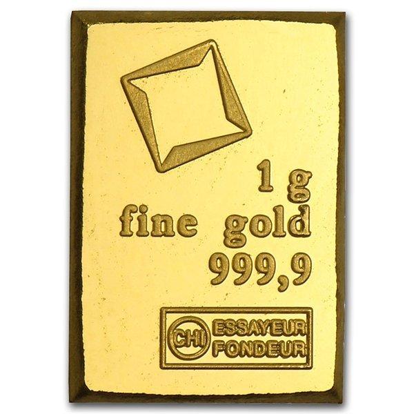 1 gram Valcambi Gold Bar .9999 Fine