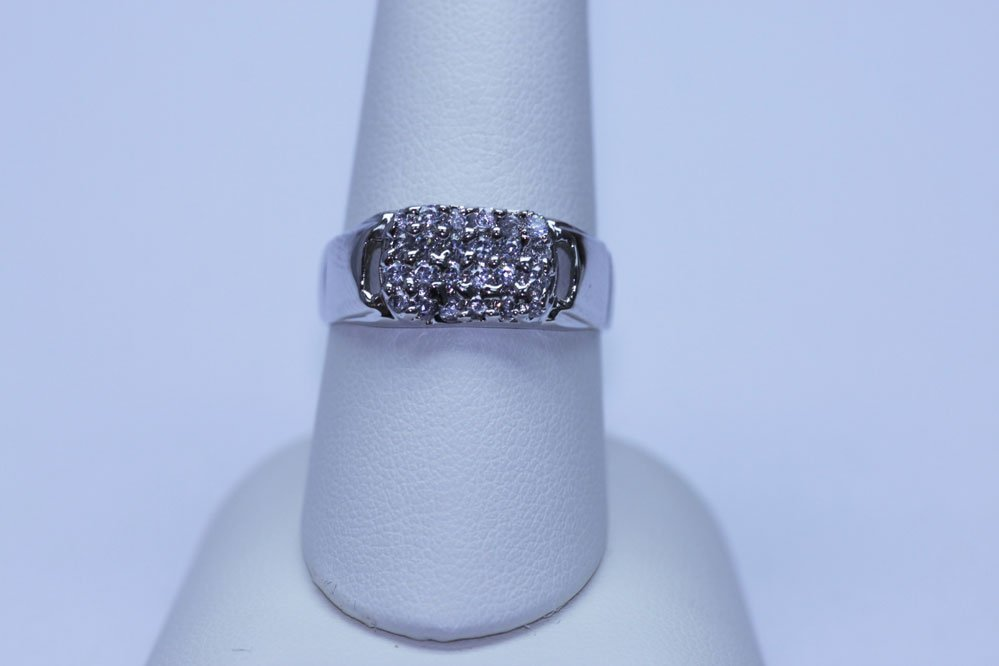 17.50 CTW CZ RING .925 STERLING SILVER