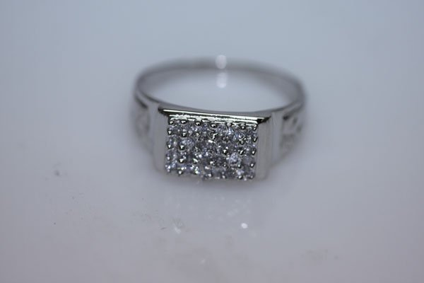 16.5 CTW CZ RING .925 STERLING SILVER