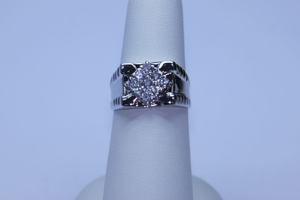 21.90 CTW CZ RING .925 STERLING SILVER