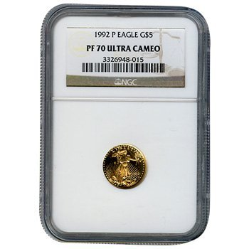 Certified Proof American Gold Eagle $5 PF70 NGC Dates