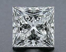 EGL CERT 0.54 CTW PRINCESS CUT DIAMOND D/SI2