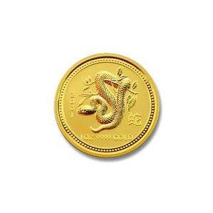Australian Lunar Gold One Tenth Ounce GoldSnake