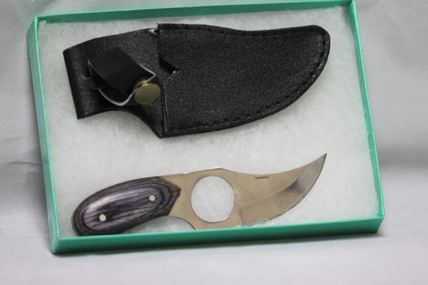 """COLLECTORS EDITION 5.5"""" BLACK SHORT SKINNER STAINLESS S"""