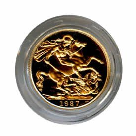 Great Britain 2lb Two Pound Proof Gold Coin (weight .47