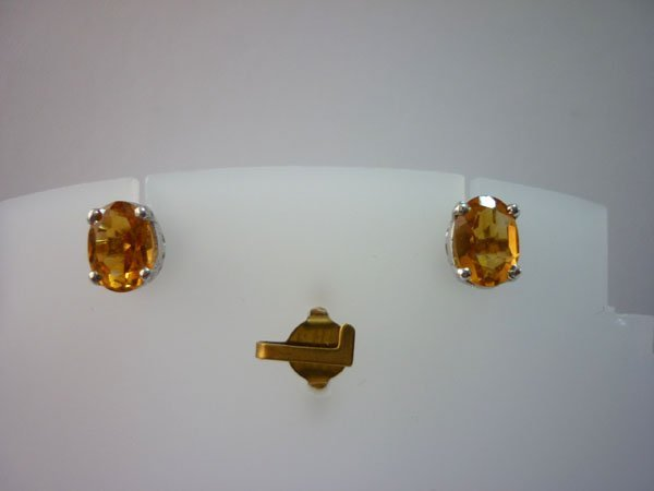 9.75 CTW CITRINE EARRING .925 STERLING SILVER