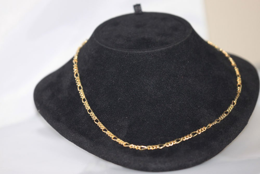 14K GOLD PLATED CHAINS X3
