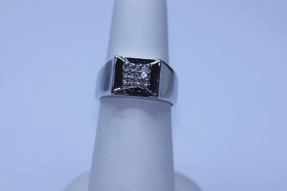 27.45 CTW CZ RING .925 STERLING SILVER
