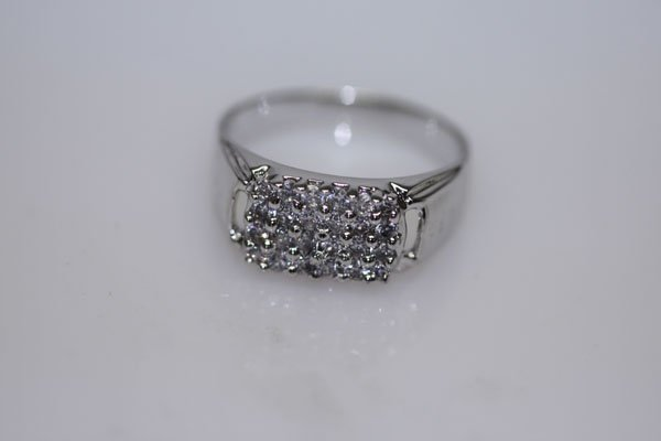 12.1 CTW CZ RING .925 STERLING SILVER