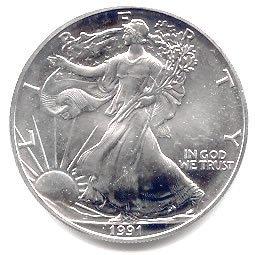 Uncirculated Silver Eagle 1991