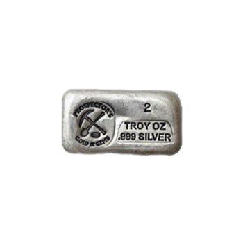 Silver Bar 2 Ounce .999 Fine