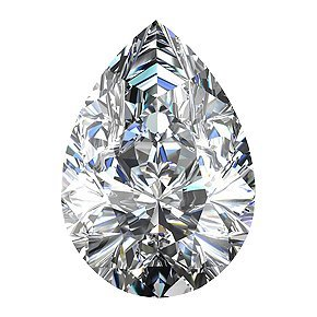 EGL CERT.PEAR DIAMOND 2.2 CTW F/SI2