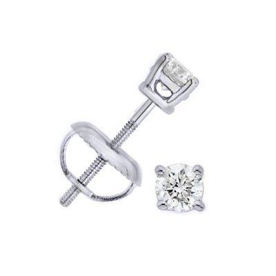 0.33 ctw Round cut Diamond Stud Earrings G-H, SI-2