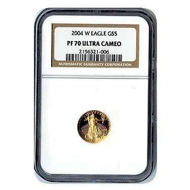 Certified Proof American Gold Eagle $5 PF70 NGC (Date o