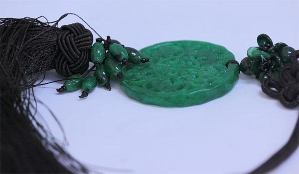 GREEN JADE CHINESE GOOD LUCK CHARM