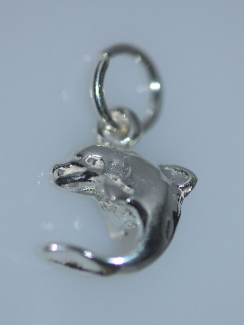 DOLPHIN PORPOISE CHARM .925 STERLING SILVER