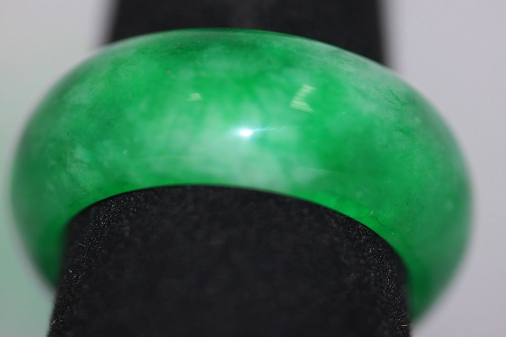 SYNTHETIC GREEN JADE RING