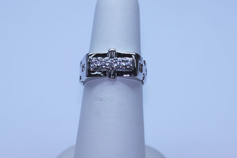 21.80 CTW CZ RING .925 STERLING SILVER
