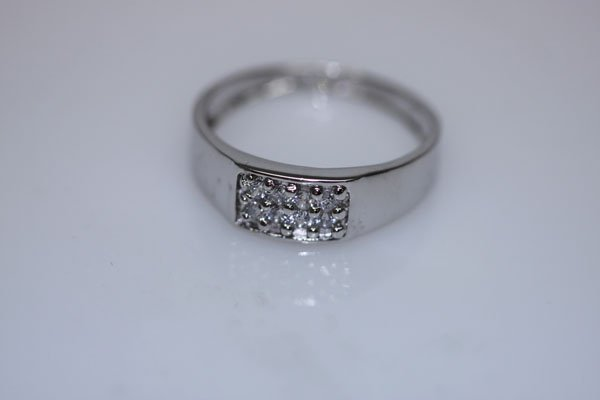 13.8 CTW CZ RING .925 STERLING SILVER