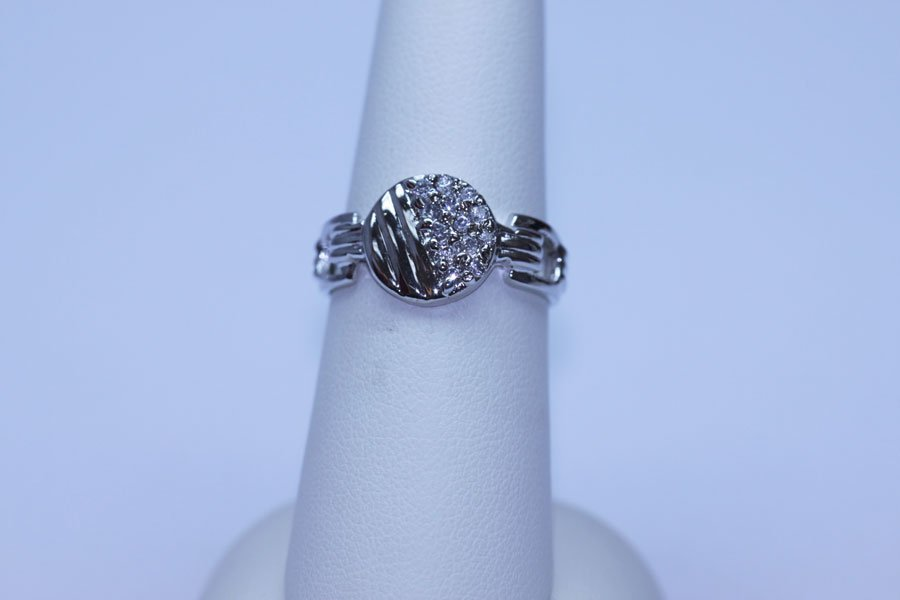 16.40 CTW CZ RING .925 STERLING SILVER