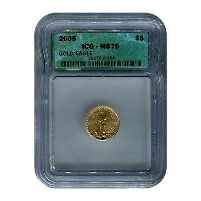 Certified American $5 Gold Eagle MS70 ICG (date of our