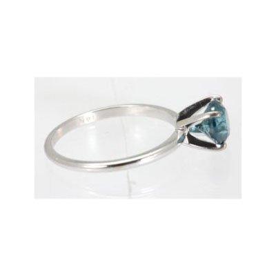 Genuine 2.0 ctw Blue Diamond Solitaire Ring 14kt