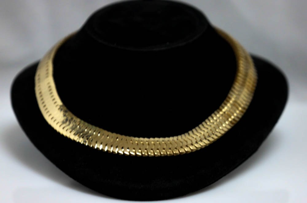 FASHION OMEGA NECKLACE GOLD PLATED BRASS