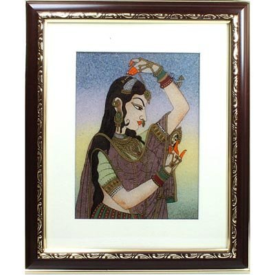 Indian Beauty 2 Art Craft Gemstone Painting Dim 12x10""