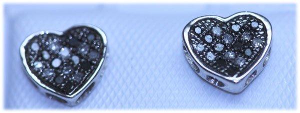 0.11 CTW DIAMOND .925 STERLING SILVER EARRING