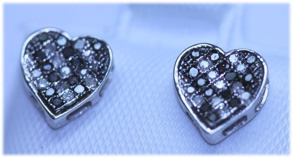 0.16 CTW DIAMOND .925 STERLING SILVER EARRING