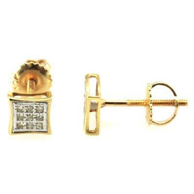 Genuine 0.06 ctw Round Cut Diamond Earring 10k