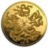 Singapore Dragon 12 oz Singold Gold Coin Proof dat