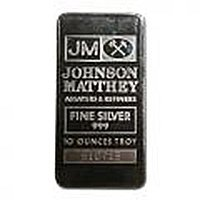 Johnson Matthey 10 oz Bar (Pressed, JM Logo) .999 fine