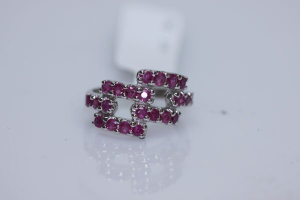 18.75 CTW RUBY RING .925 STERLING SILVER