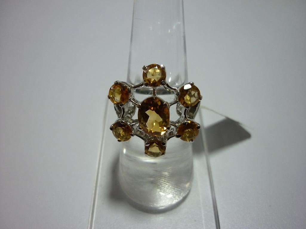 27.75 CTW CITRINE RING .925 STERLING SILVER