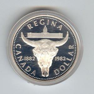Canada 1982 silver dollar, Regina