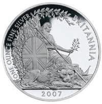 Silver Britannia One Ounce 2007