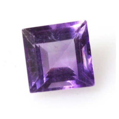 Natural 3.8ctw Amethyst Square 6-7mm (3) Stone